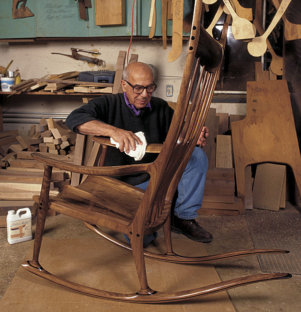 The rocking chair of Sam Maloof Furniture with spirit  : sam maloof from www.faena.com size 600 x 621 jpeg 119kB